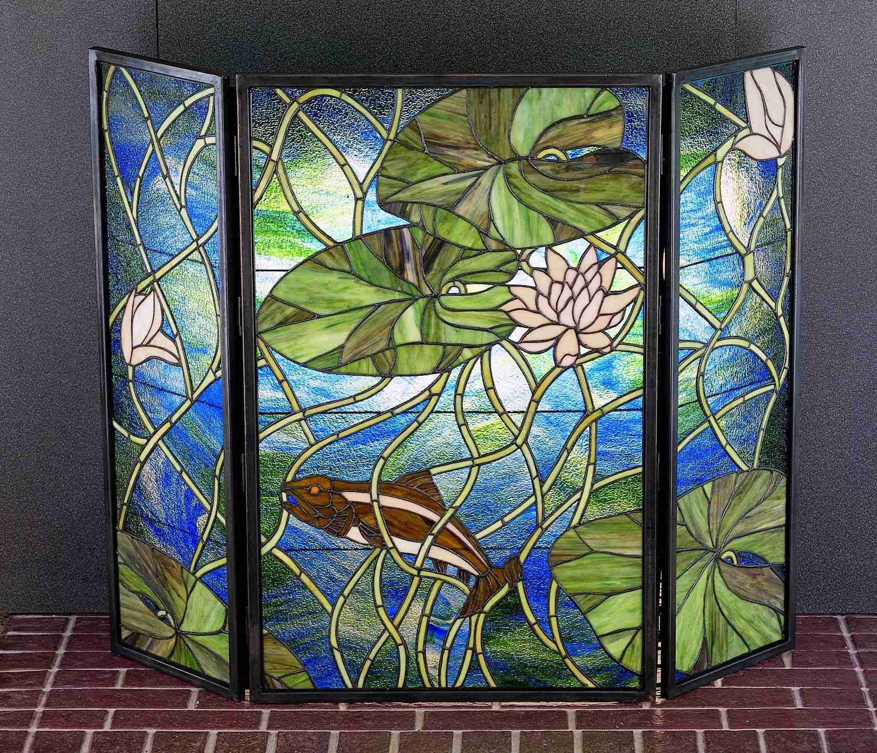 Stained Glass Fireplace Screen Stained Glass Fireplace Screen