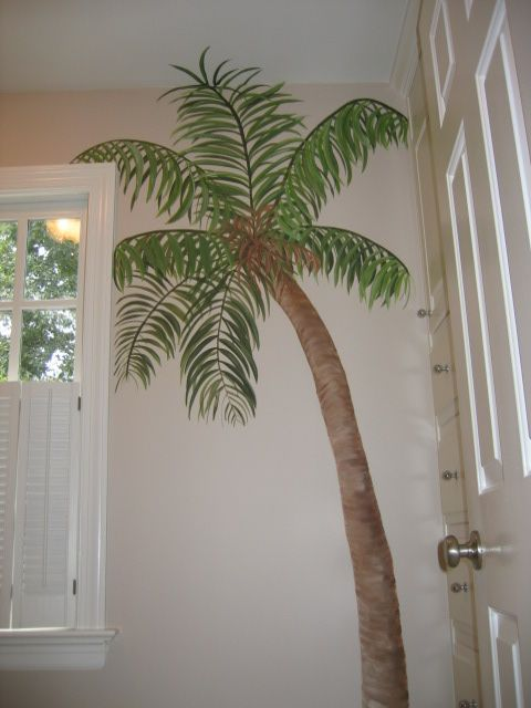 Palm Tree Mural With Images Tree Mural Bedroom Palm Trees