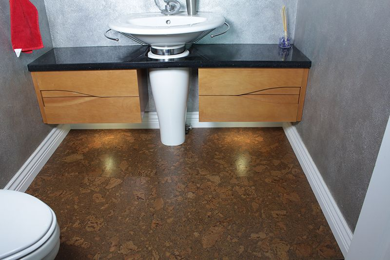 Best Bathroom Flooring Cork Tile For Rest Of The House In 2020 Cork Flooring Bathroom Amazing Bathrooms Best Bathroom Flooring