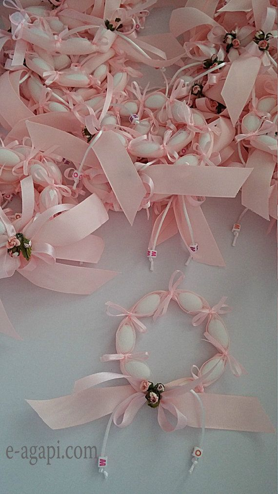 Personalized favors for baby girl baptism 20-80 shabby chic favors.