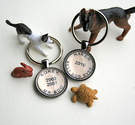 Pet Lovers! Personalized Pet Keychain With Your Pet's Name