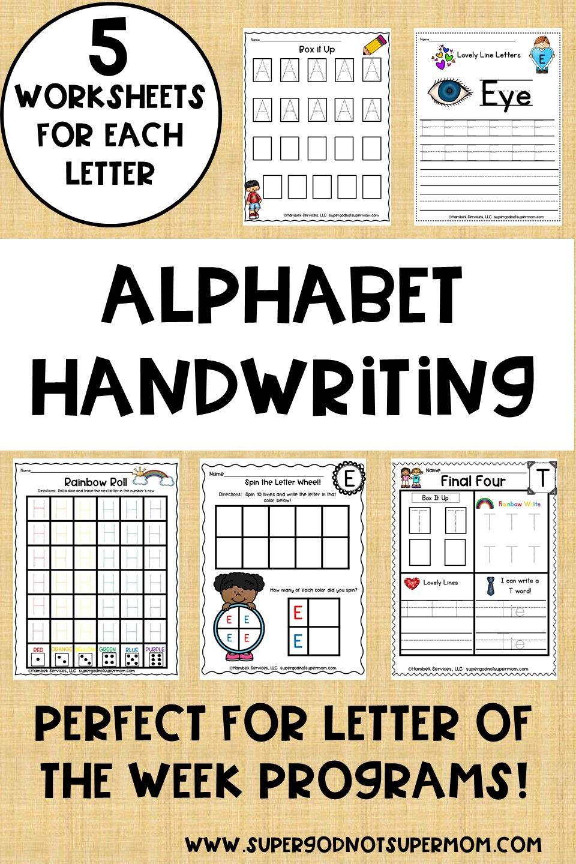 Alphabet Handwriting Worksheets Super God Not Super Mom Handwriting Alphabet Handwriting Worksheets Letter Activities [ 1440 x 960 Pixel ]
