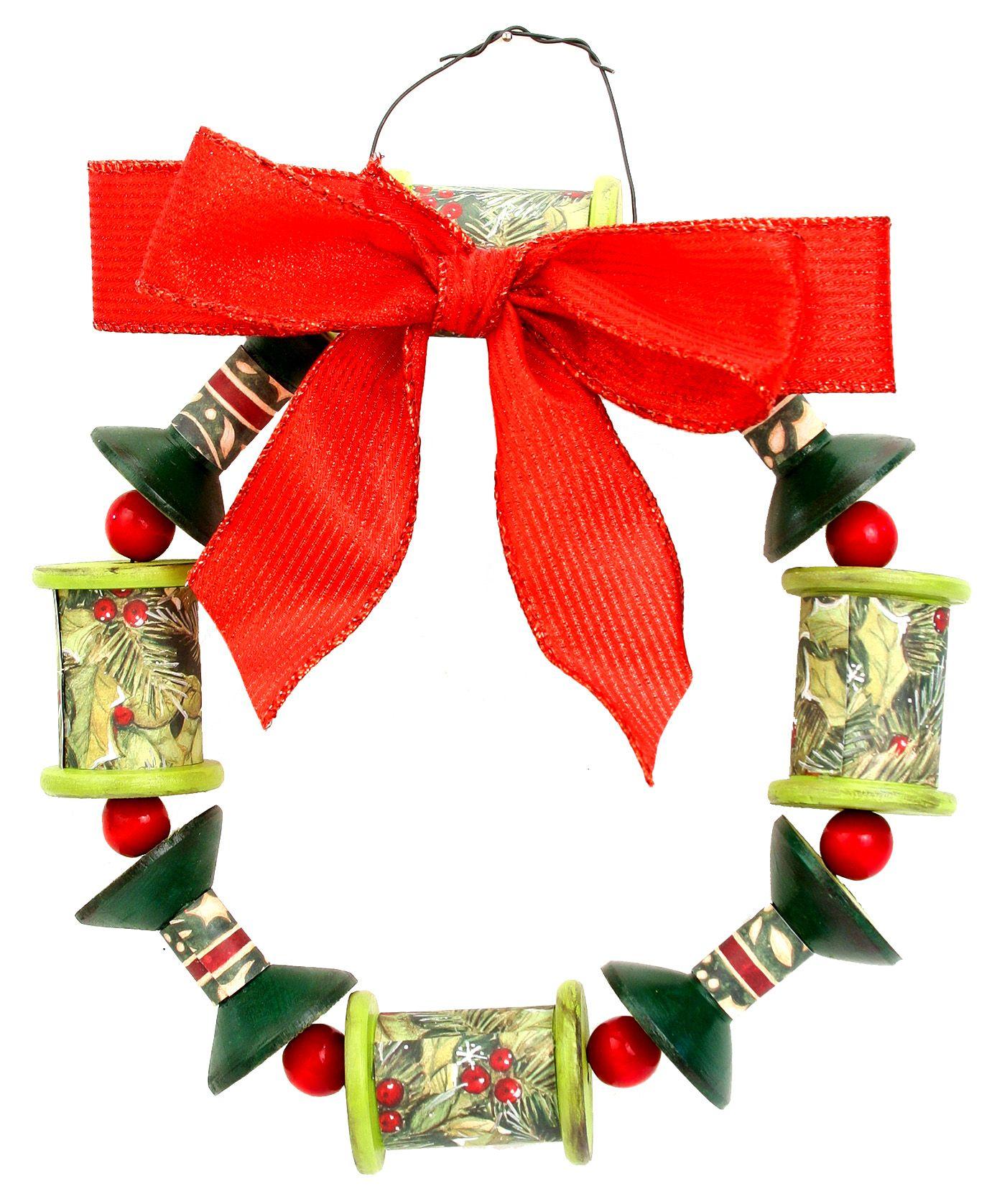 Nicole™ Crafts Wood Turning Christmas Wreath christmas kids craft