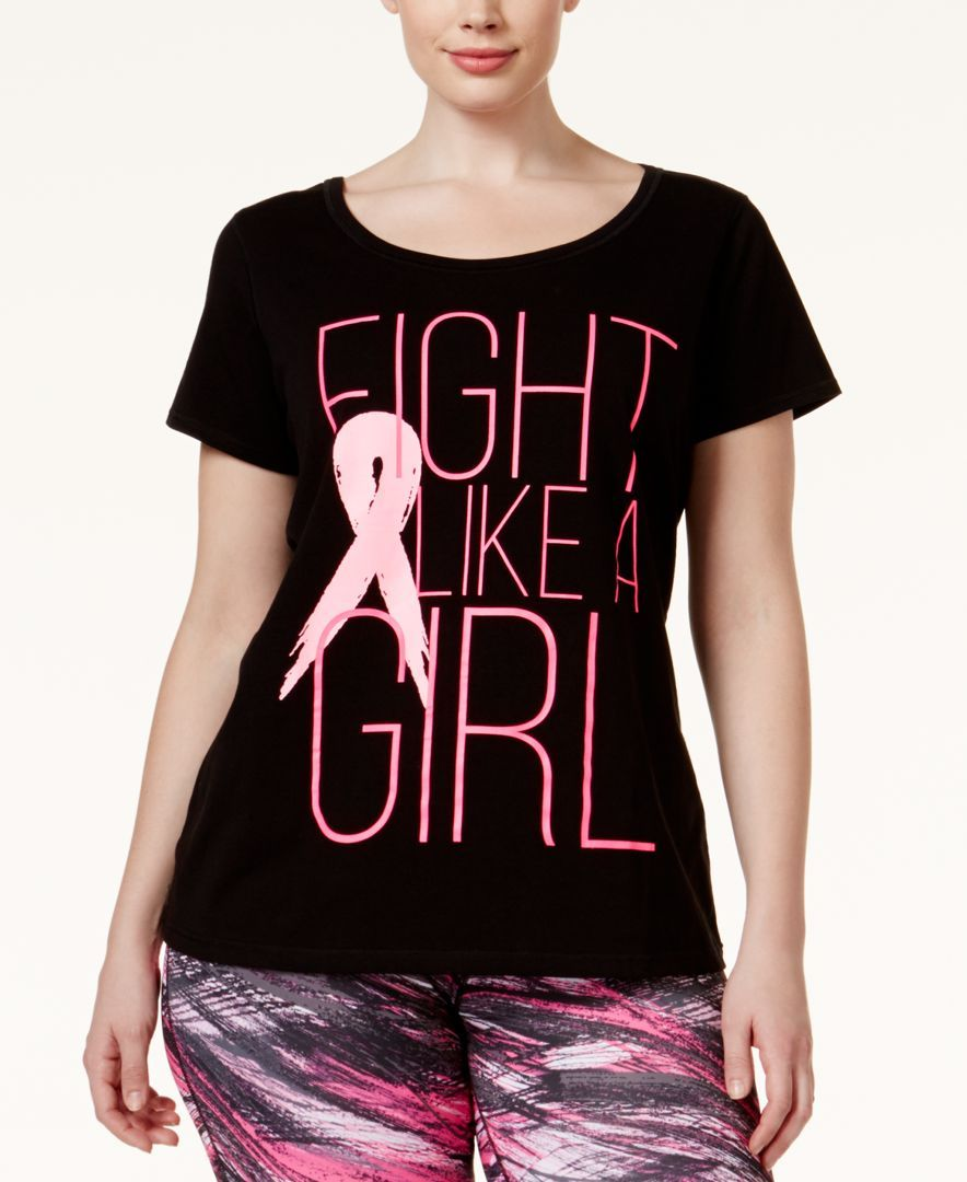b2ab3007c56d1 Ideology Plus Size Fight Like A Girl T-Shirt