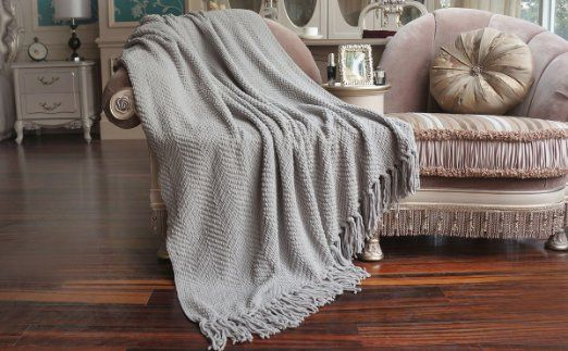 Throw Blankets For Couches Bnf Home  Throw  Knitted Tweed Throw Couch Cover Blanket 50X60