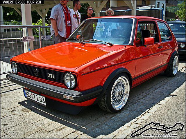 Mars Red Vw Golf Mk1 Gti On Bbs Split Rim Wheels Vw Golf I Vw Cabrio Volkswagen