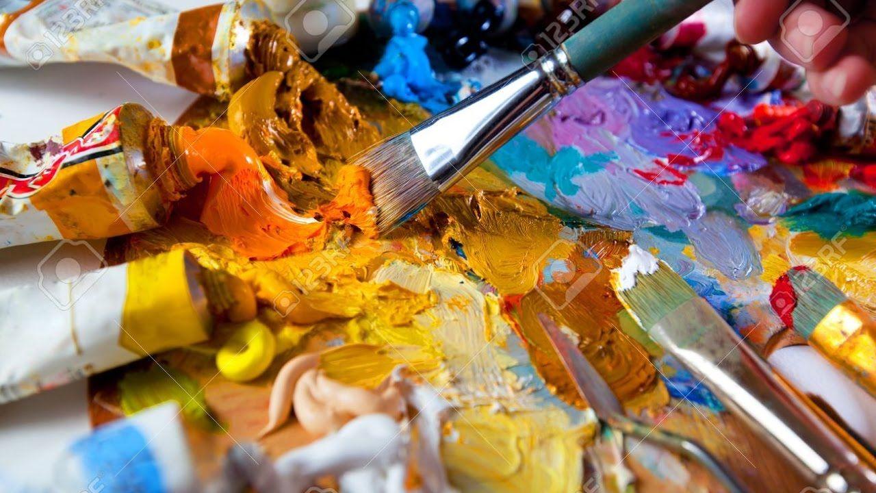 تعليم الرسم بالالوان الزيتية دمج الالوان و استخراج الوان البشرة 2 Painting Art Projects Arabic Food Art Projects