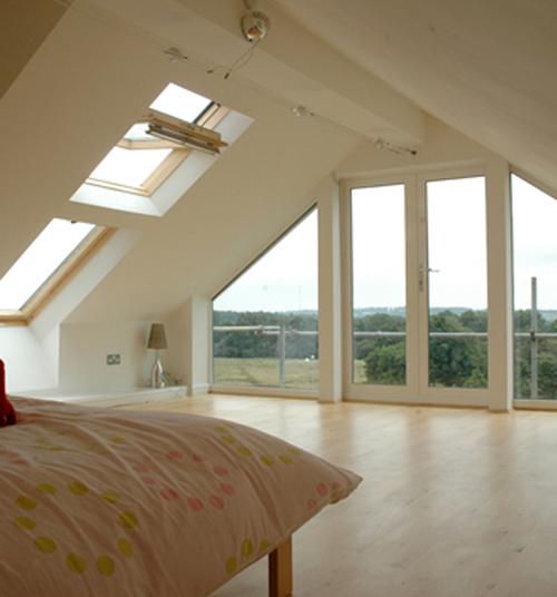 Attic Bedroom With Terrace Ideias Para Sotao Interiores Casas