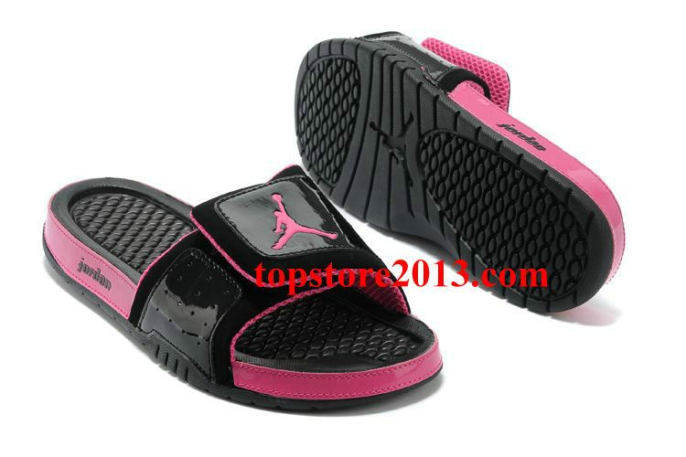 Nike Air Jordans- Women Jordan Hydro 2 Slide Black/Voltage Cherry