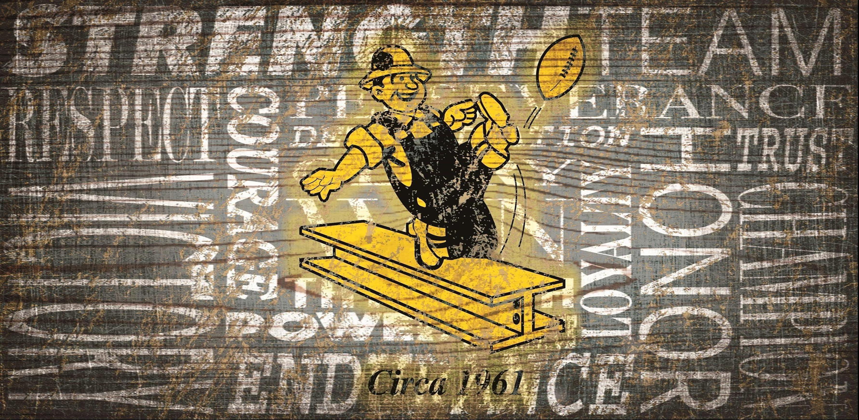 Pittsburgh Steelers Heritage Word Collage 6\