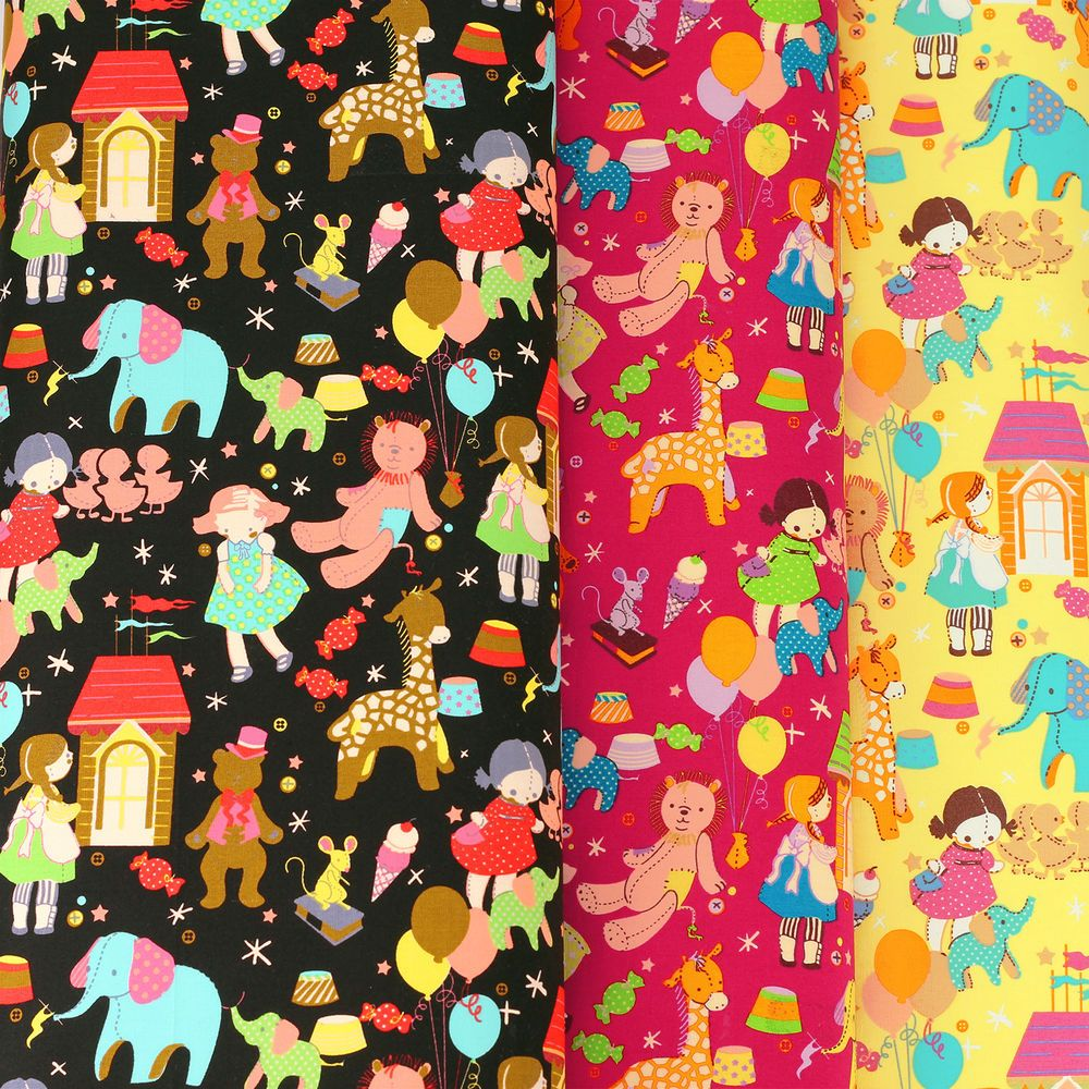 Girl Elephant Giraffe Bear Duck Mouse Doll House & Balloon. Cotton Fabric per FQ - VR7. Fine quality 100% cotton print fabric. Beautiful printing art of cotton. Sold per fat quarter (FQ). [Colour] We do our best to match the colours of the item. | eBay!