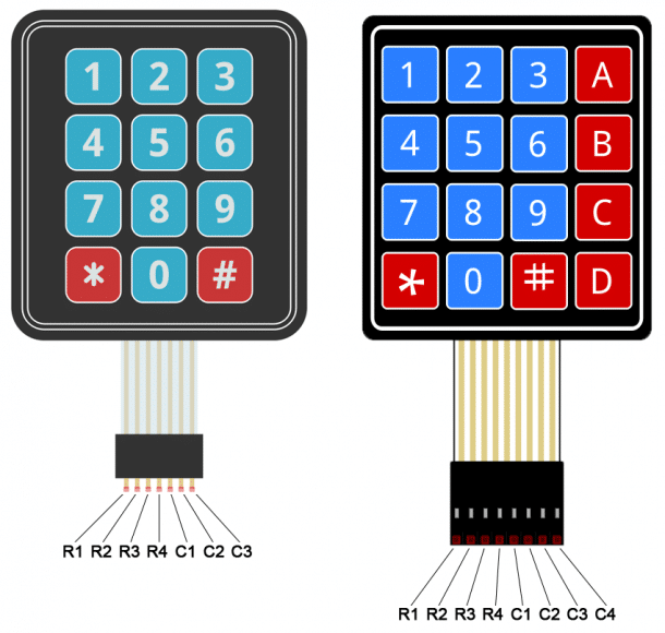 Arduino Keypad Tutorial - 4X4 and 3X4 Keypad Pin Diagram | Arduino