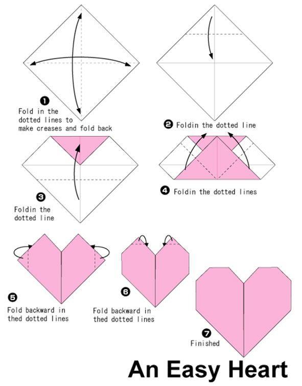 Origami Heart Cdnstylisheve Wp Content Uploads 2010 07 Easy Hearts