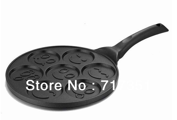 BRAND NEW!!!!! hot selling Smiley Face Pancake Pan cake mold K1001-in Turntables from Home & Garden on Aliexpress.com