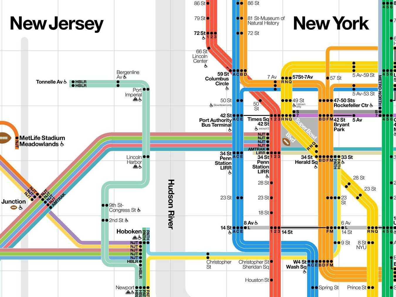 The mta made a brand new nyc subway map for the super bowlg the mta made a brand new nyc subway biocorpaavc Gallery