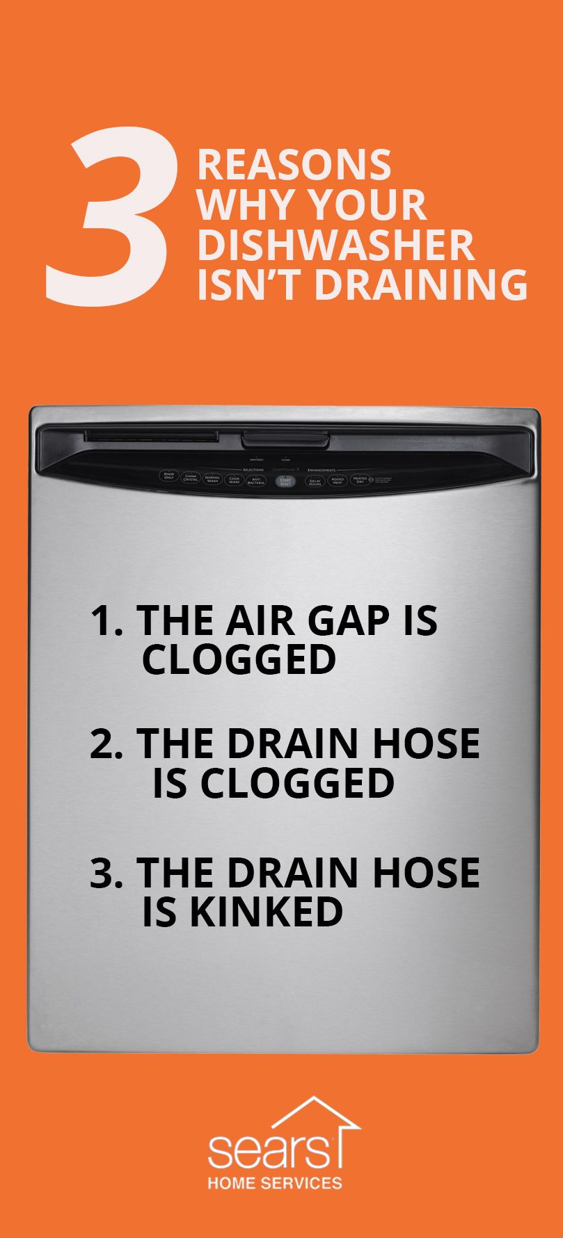Is your dishwasher not draining? There are three major