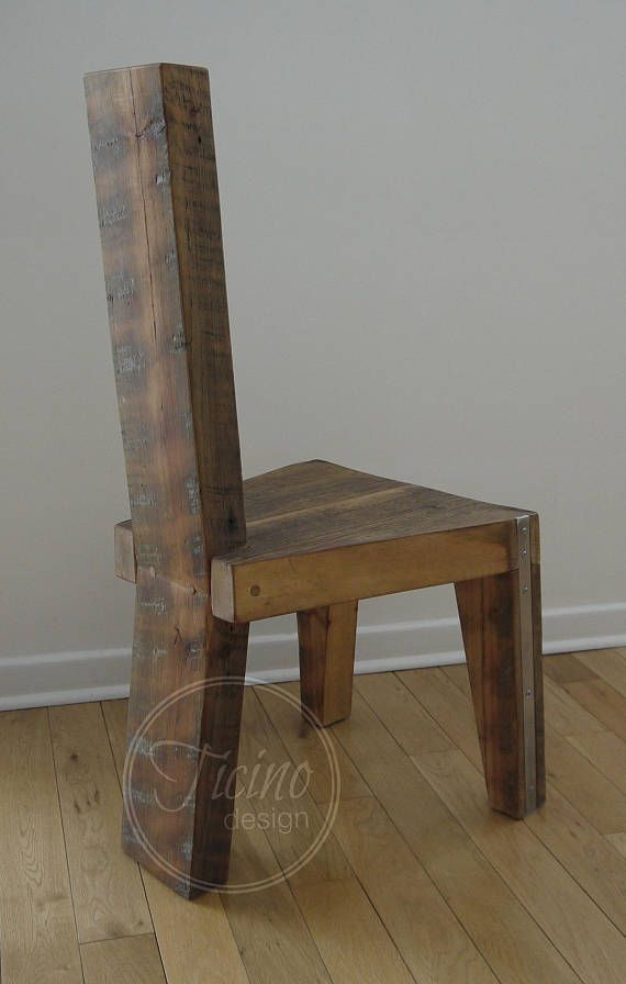 Reclaimed Wood Dining Chair Rustic Chair Handmade Dinning Chair Custom How Much To Ship Furniture Plans