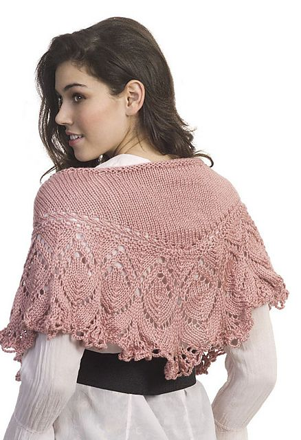 STUNNING BEADED SHOULDER SHAWL to KNIT in LACE or FINGERING WEIGHT YARN