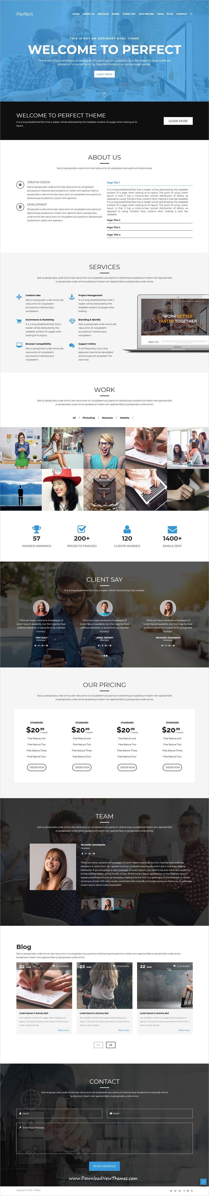 Perfect - Creative Multipurpose HTML5 Template | Business website ...