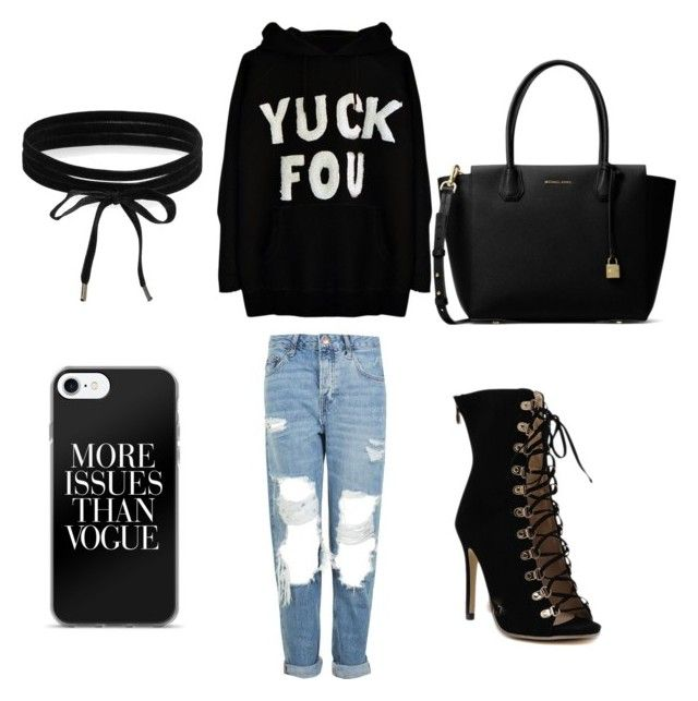 """Rebel"" by melissarodrigues23 ❤ liked on Polyvore featuring Topshop, MICHAEL Michael Kors and Boohoo"