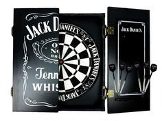Jack Daniels Dartboard Cabinet Set And Darts Man Cave Pool Room Licensed Gift Licensingessentials Jack Daniels