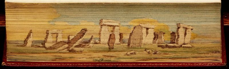 Stonehenge painted on the side of The Royal Kalendar, and court and City Register for England, Scotland, Ireland, and The Colonies (Date unknown)