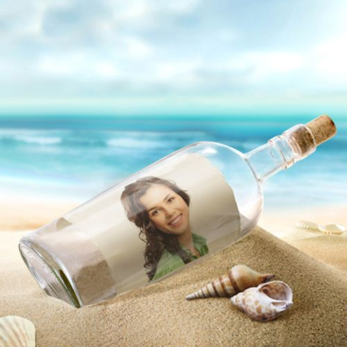 put a Photo message in a Bottle