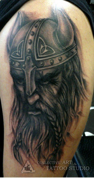 Viking tattoo by Zanda www.collectivearttattoostudio.com ...