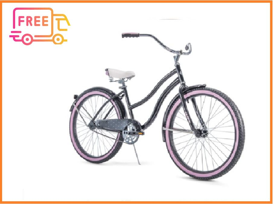 "Huffy Women/'s Cruiser Bike 26/"" Beach City Bicycle Comfort Ride Perfect Fit Frame"