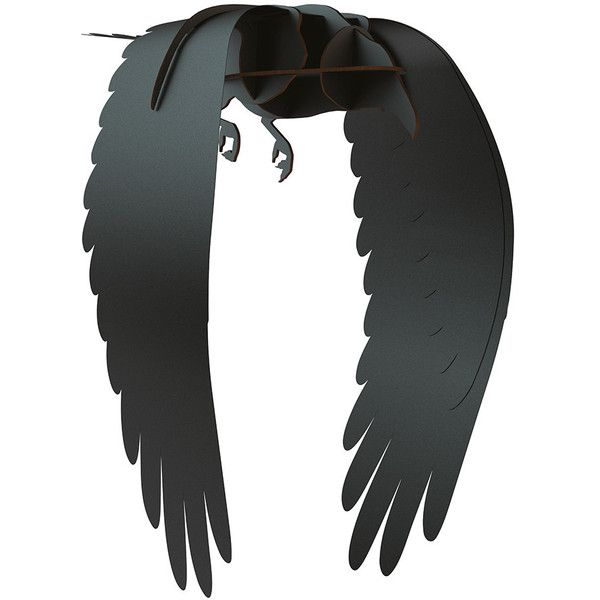 ibride Mobilier de Compagnie - Black Raven Ornament - Karl ($154) ❤ liked on Polyvore featuring home, home decor, black, bird home decor, black home decor and ibride