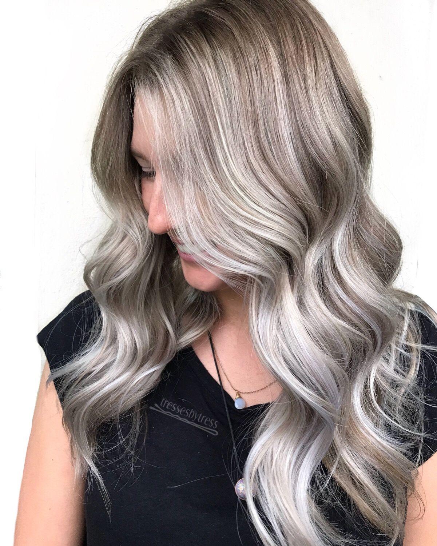 Platinum Silver White Ash Blonde Balayage Ash Blonde Balayage Blonde Balayage Balayage Hair