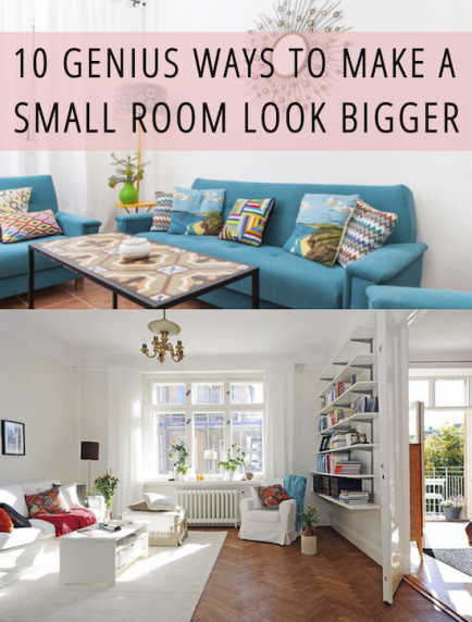 10 Genius Ways To Make A Small Room Look Bigger | Mejorando La Casa |  Pinterest | Small Rooms, Big And Room