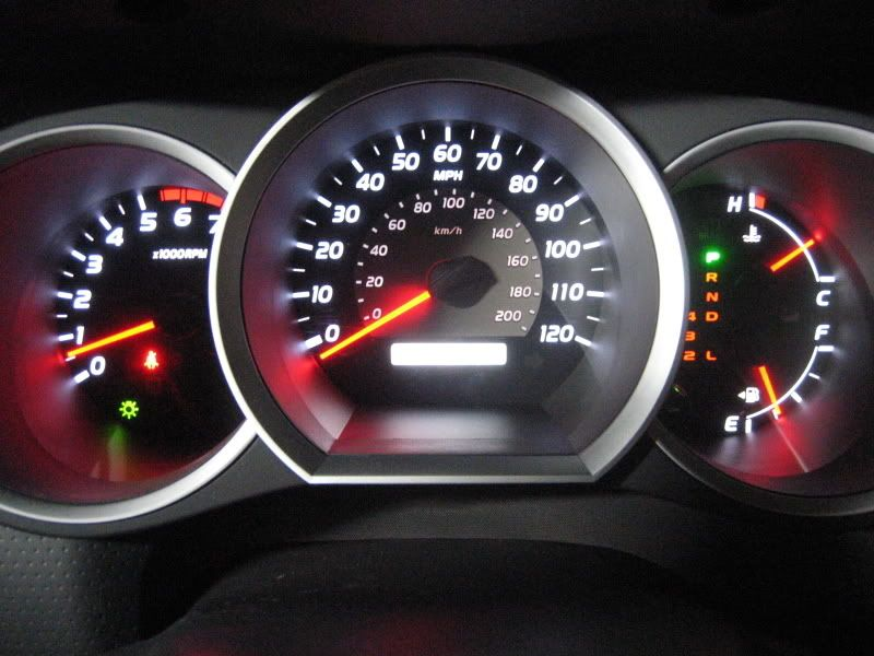 orange red?? yuck!! (how to change gauge colors) toyota nation