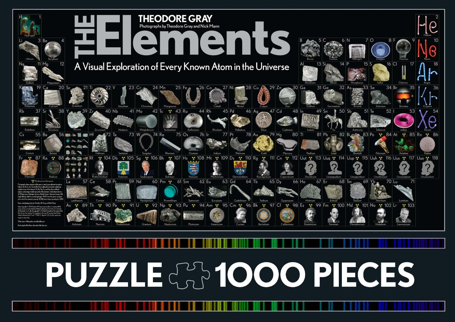 Theodore gray the elements a visual exploration of every known periodic table of elements puzzle gamestrikefo Images