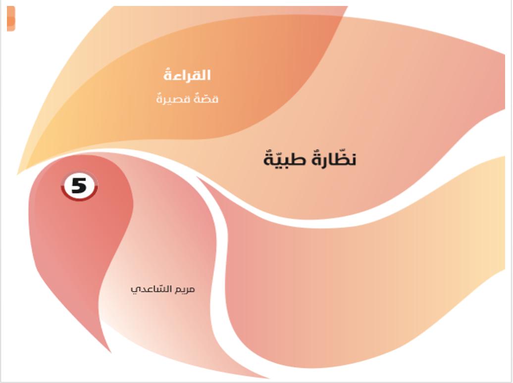 بوربوينت درس نظارة طبية مع الاجابات للصف الحادي عشر مادة اللغة العربية Pie Chart Chart