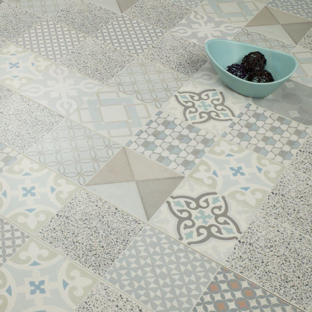 Mediterranean 8mm Tile Effect Laminate Antique Tile Effect