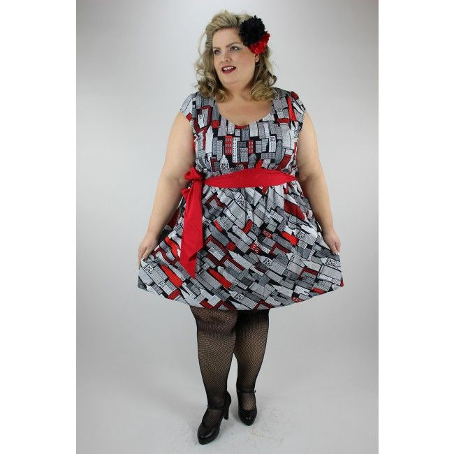 Folters - Retrolicious - Plus size Dress I want to be a part of it ...