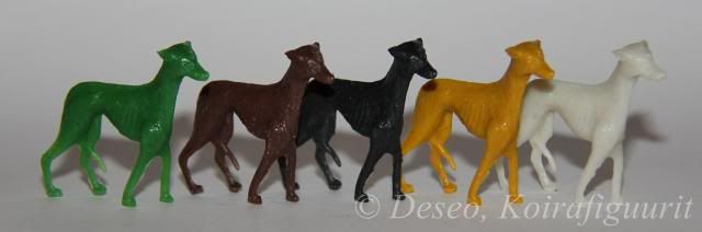 Koirafiguurit~5 shades of Grey...hound xD (I want the green the moooosssst.)