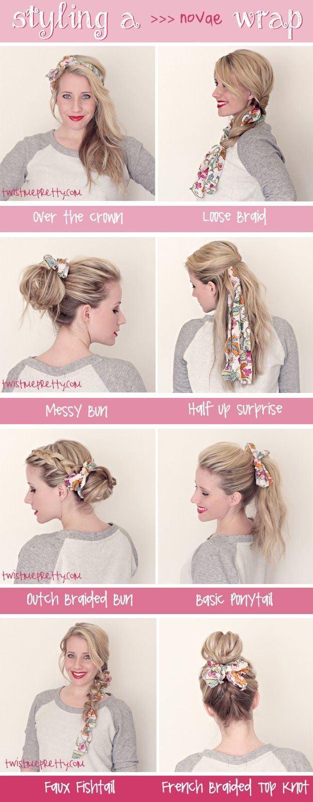 20 Ways To Tie A Scarf In Your Hair That Don T Look Like You Re