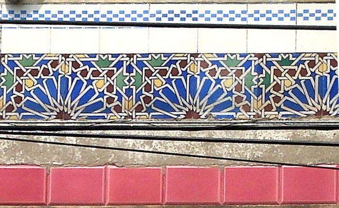Azulejos antigos no Rio de Janeiro: Santo Cristo I - rua Pedro Alves
