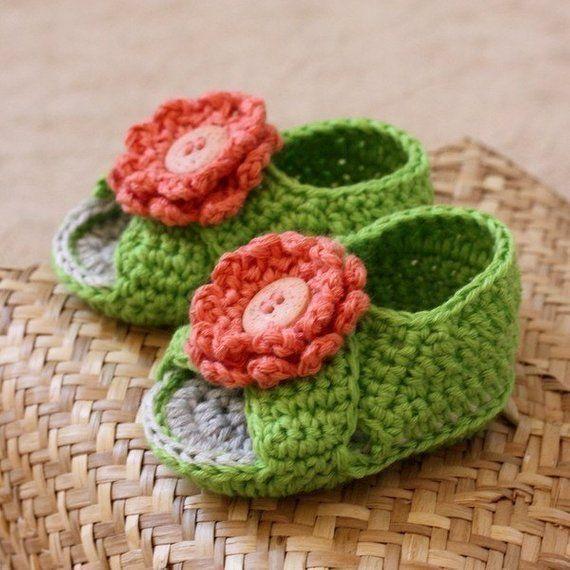 c87831a83fb39 Crochet PATTERN - Cross Strap Baby Sandals | Products | Crochet ...