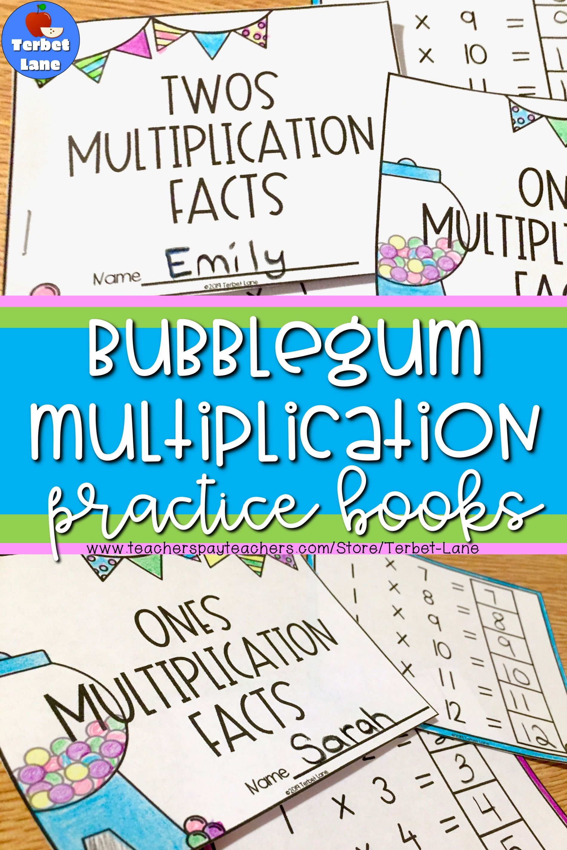 Bubblegum Multiplication Facts Practice Books