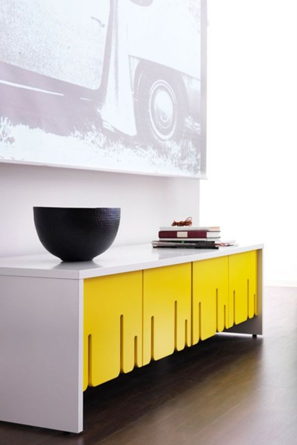 ideen flur bank gelb weiß modern gelb | gelb, wie glücklich, Attraktive mobel