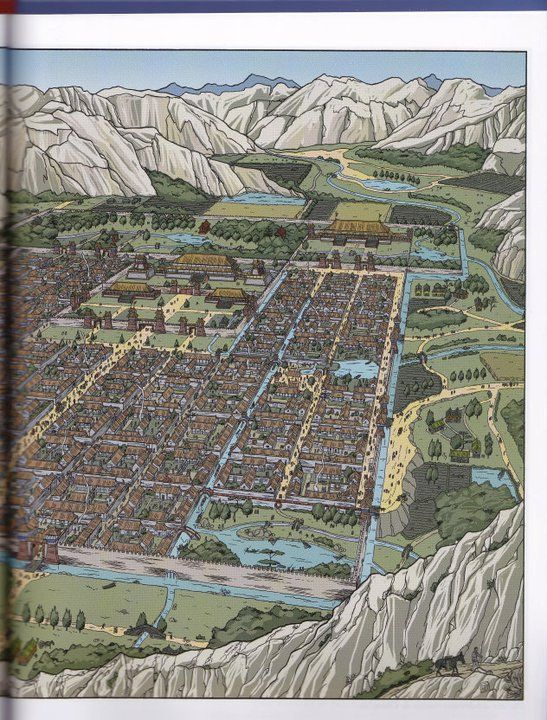 The City Of Chang An Han Dynasty From Les Voyages D Alix