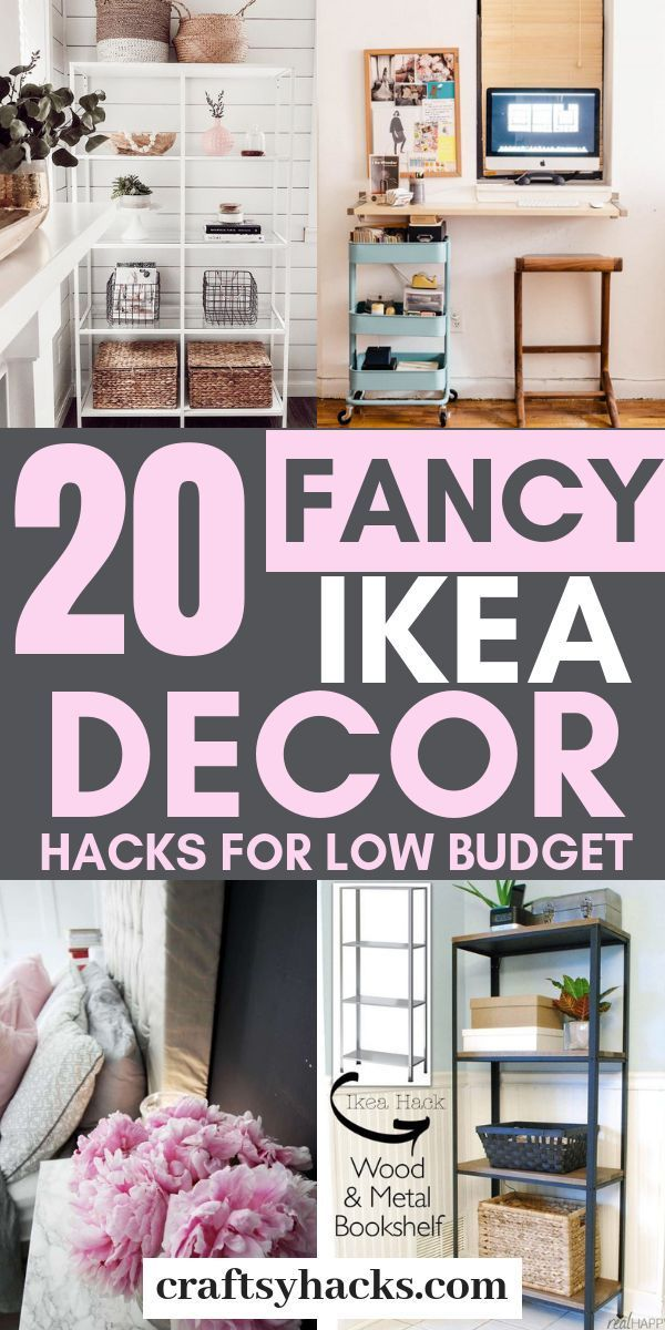 Try these ikea decorating ideas and get ikea furniture on a low budget. Enjoy the ikea decor hacks. #ikea #decor #decorating #ikeahacks