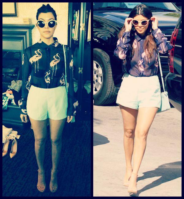 Kourtney Kardashian - Fashion Diaries: Flamingo Shirt