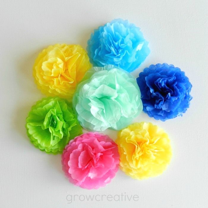 Mini Tissue Paper Flowers Tutorial Craft Projects Tissue Paper