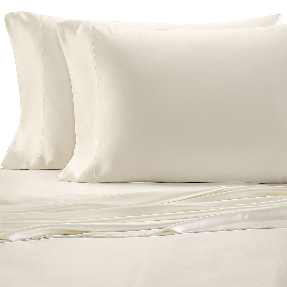 Valeron Estate Silk California King Sheet Set In Pearl In