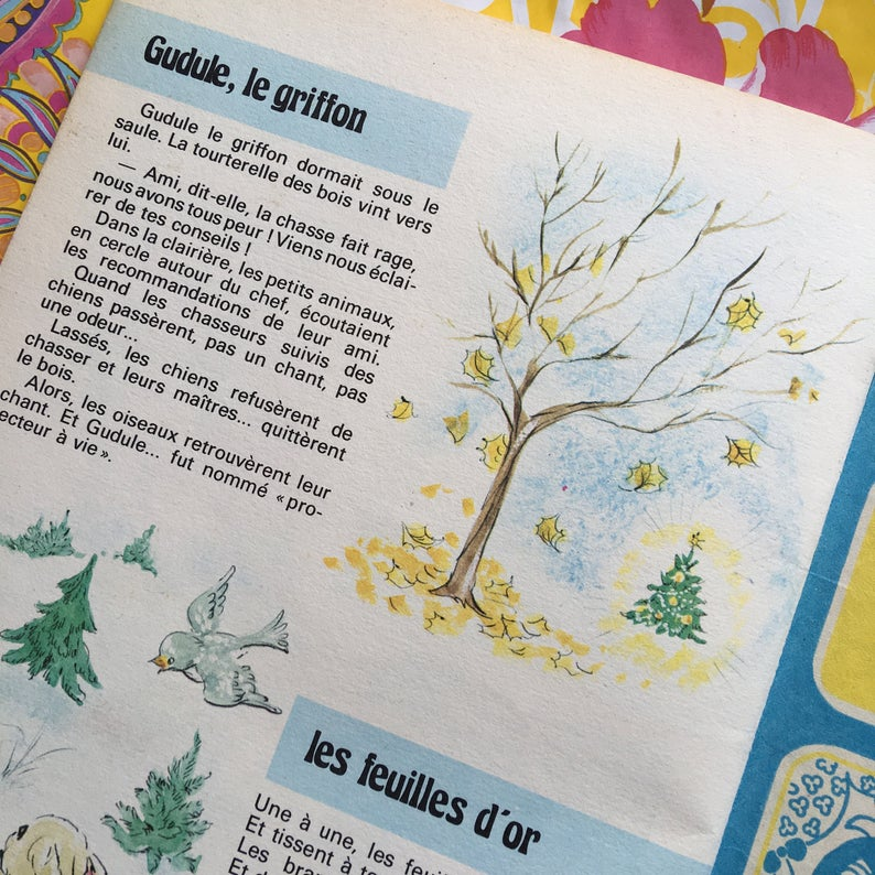 French Vintage Children S Book 35 Histoires 1970 Evalisa Agathon In 2020 Vintage Children S Books Childrens Books Books