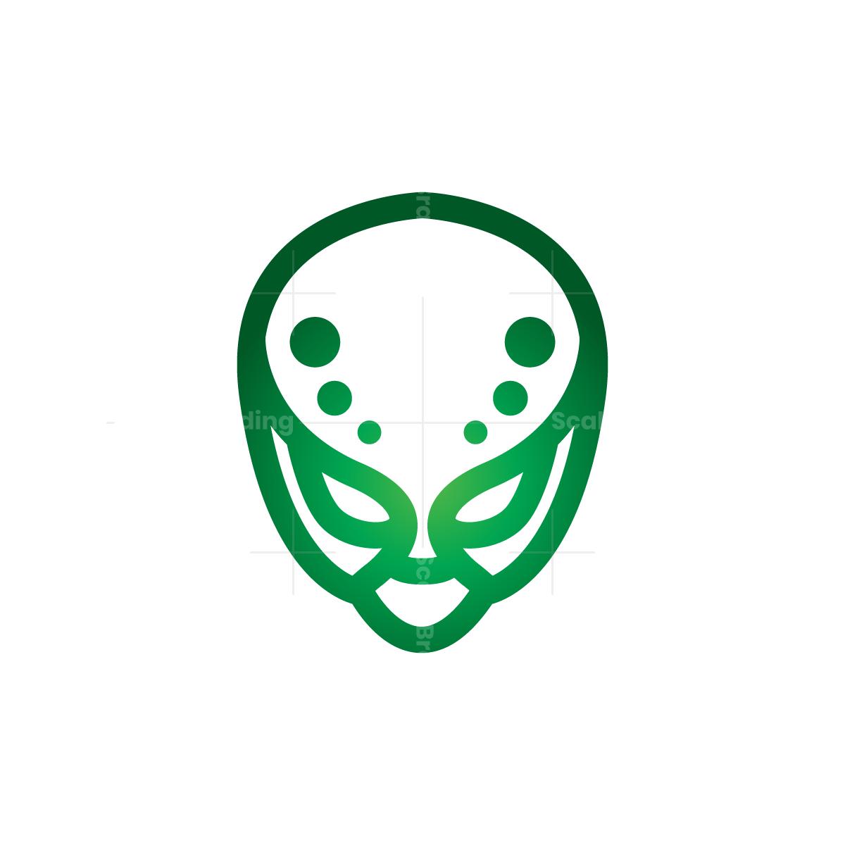 Alien Logo In 2021 Alien Logo Alien Gradient Color